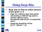 sizing surge bins