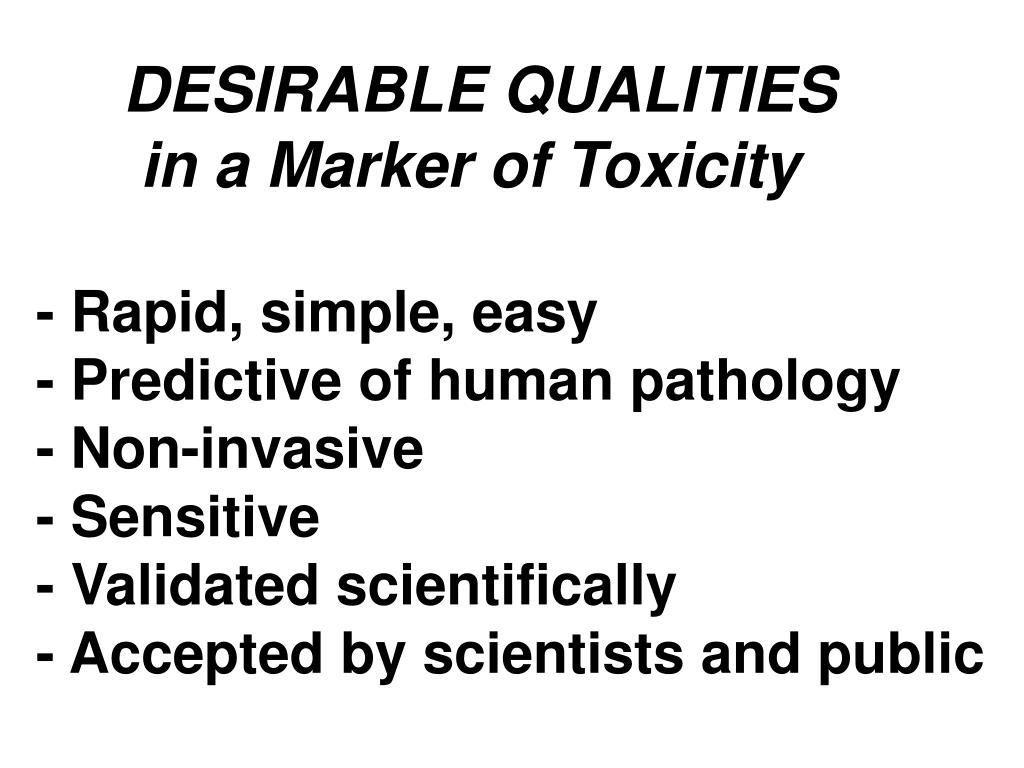 DESIRABLE QUALITIES