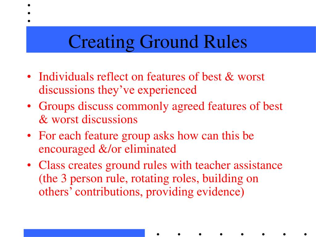 Creating Ground Rules