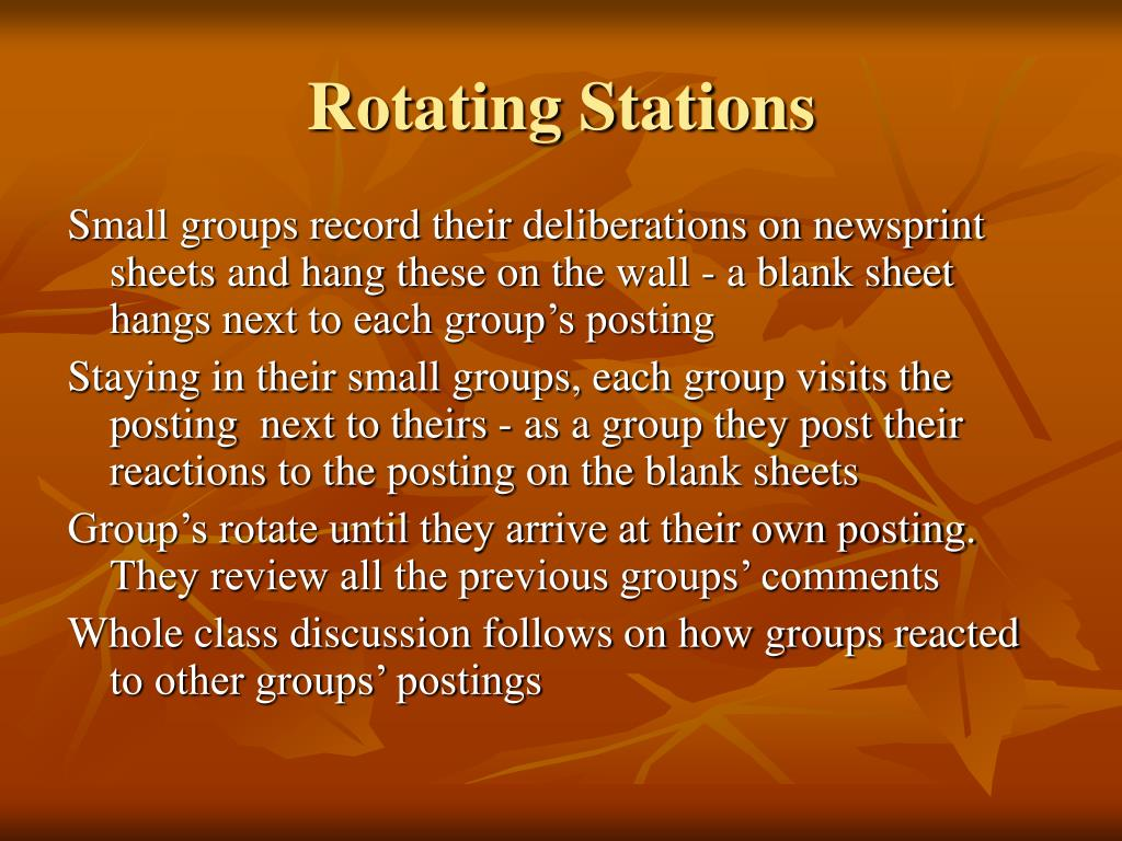 Rotating Stations