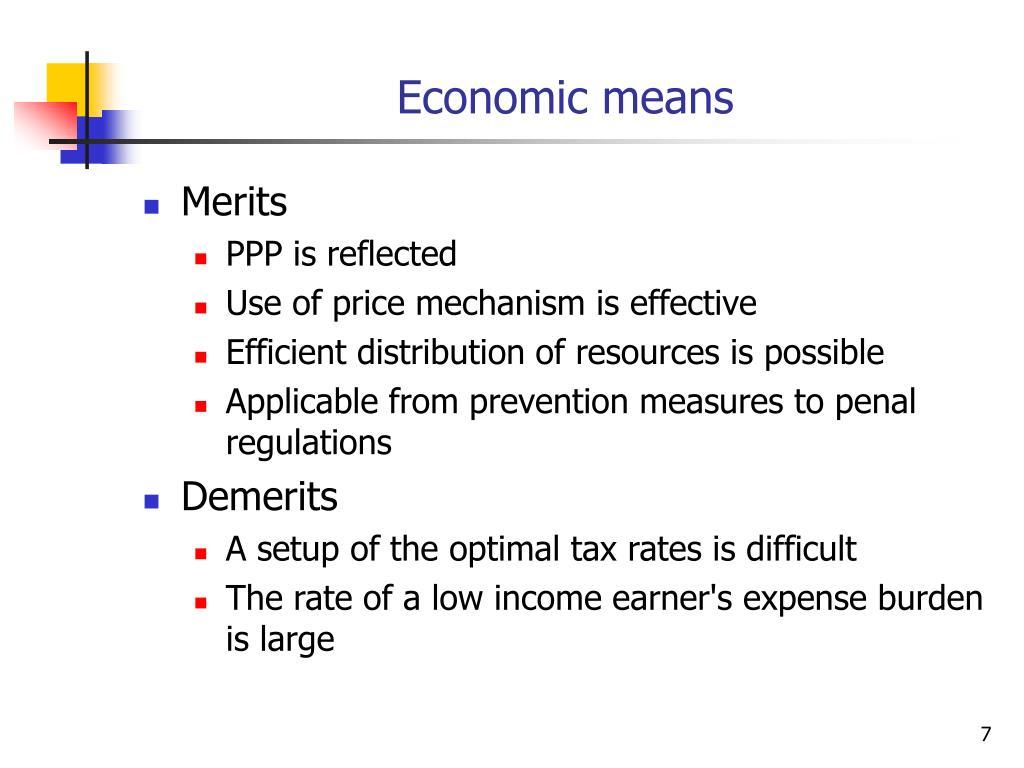 Economic means