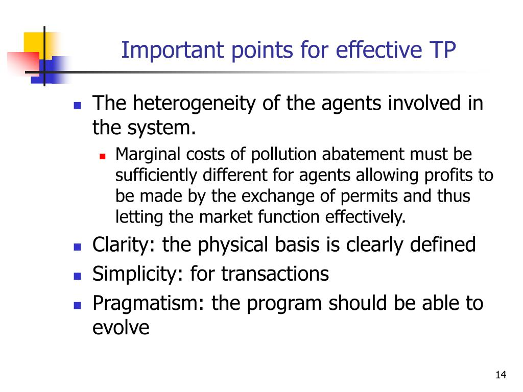 Important points for effective TP