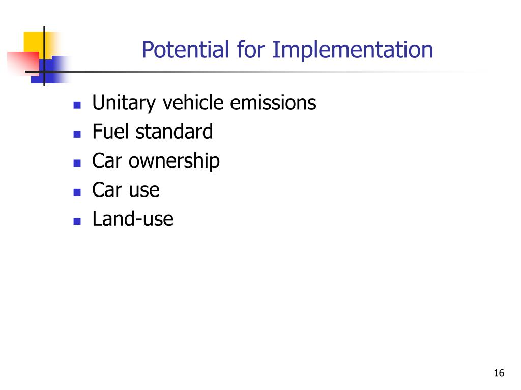 Potential for Implementation