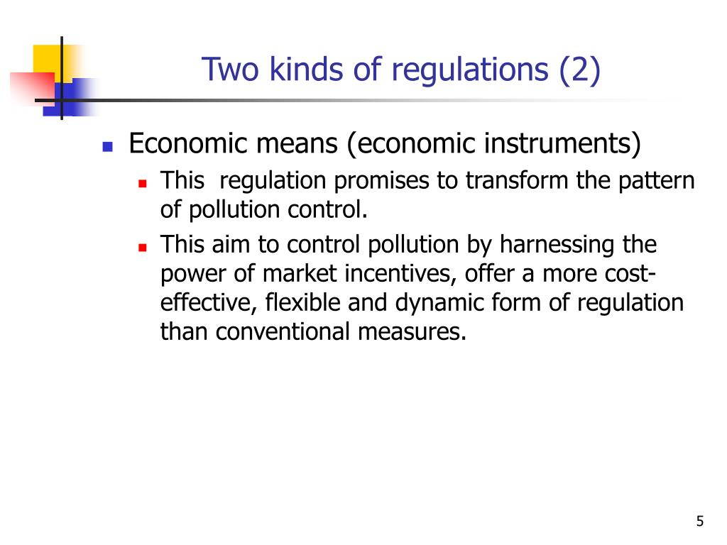 Two kinds of regulations (2)