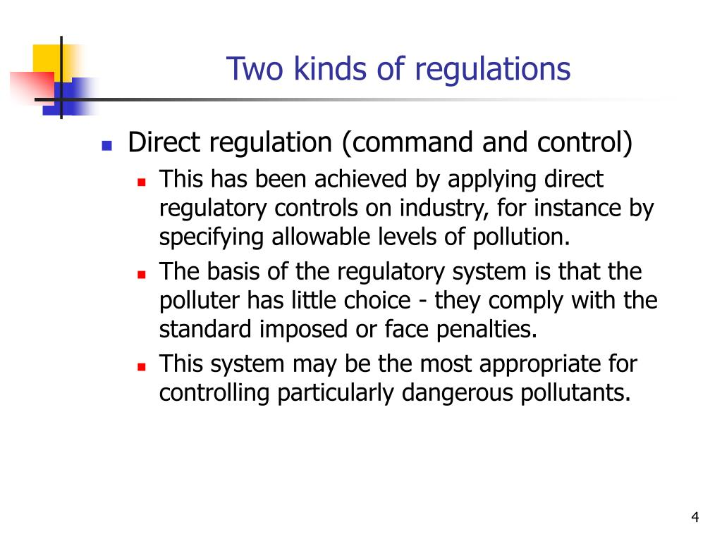 Two kinds of regulations