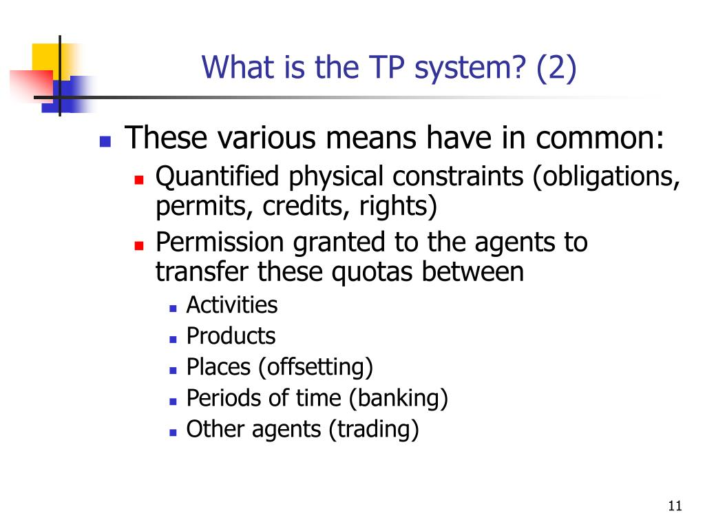 What is the TP system? (2)