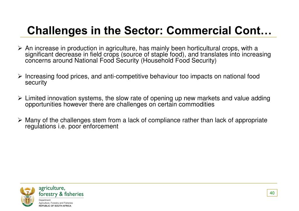 Challenges in the Sector: Commercial Cont…