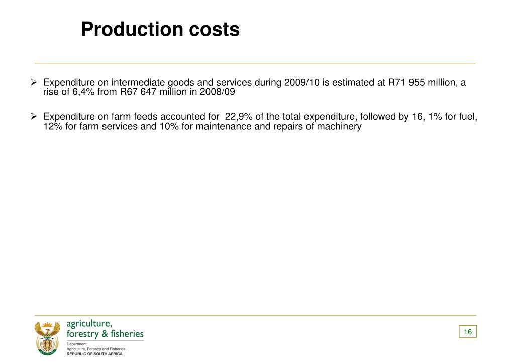 Production costs