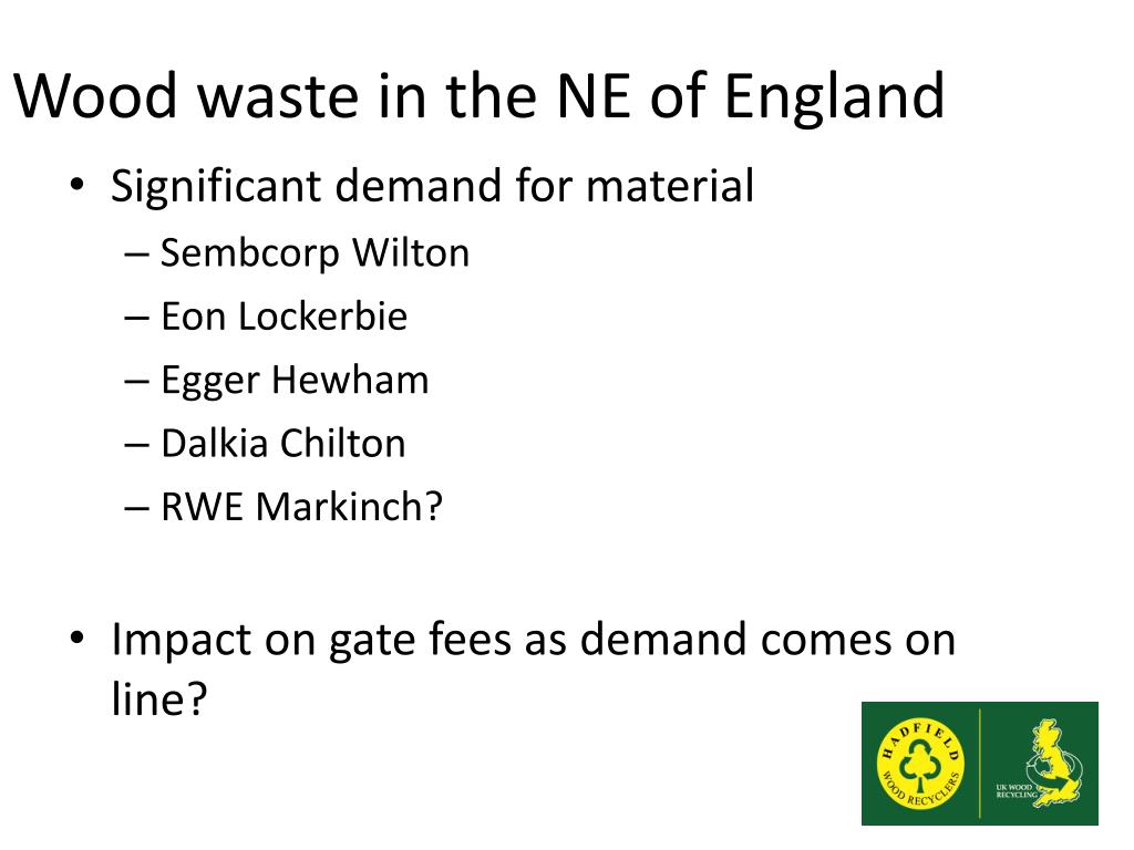 Wood waste in the NE of England