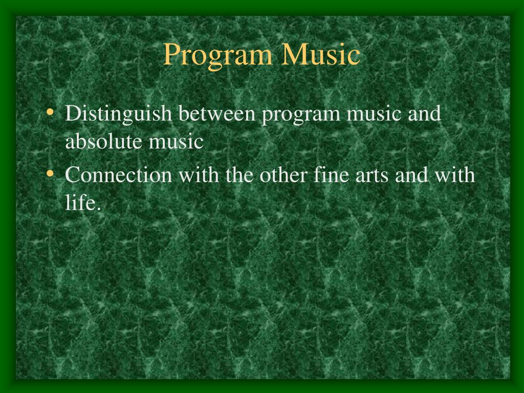 program music l.