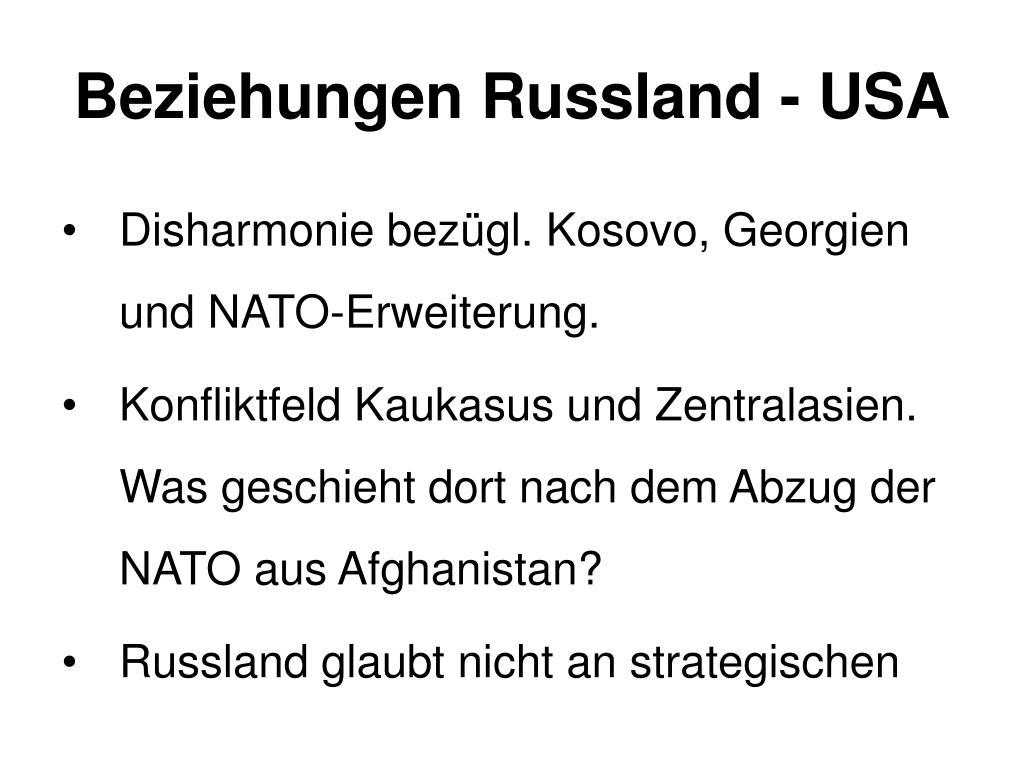 Beziehungen Russland - USA