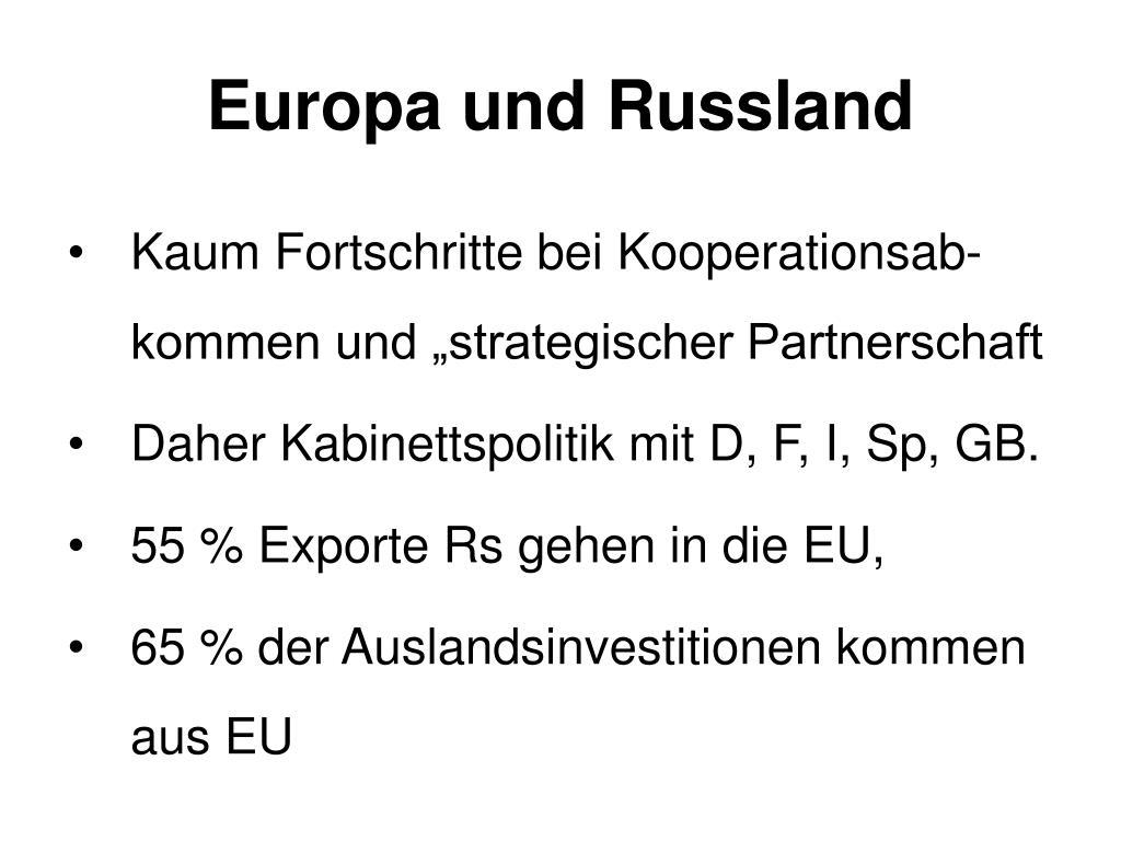 Europa und Russland