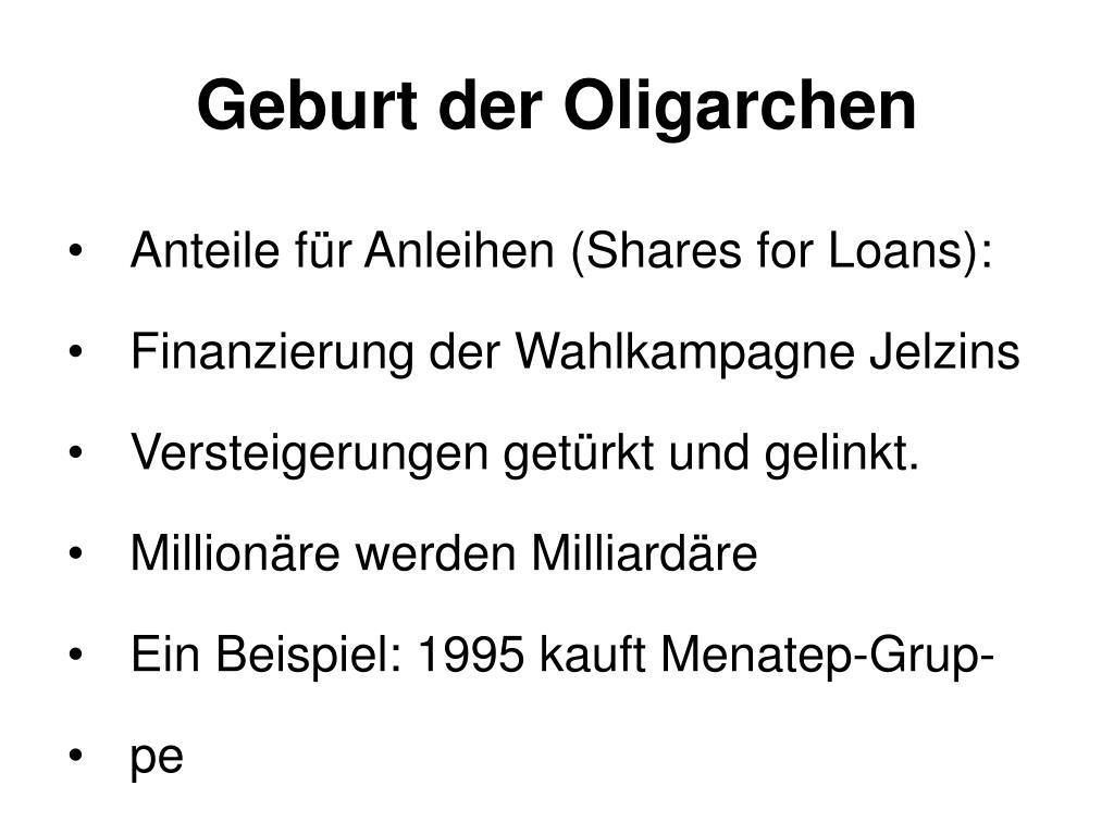 Geburt der Oligarchen