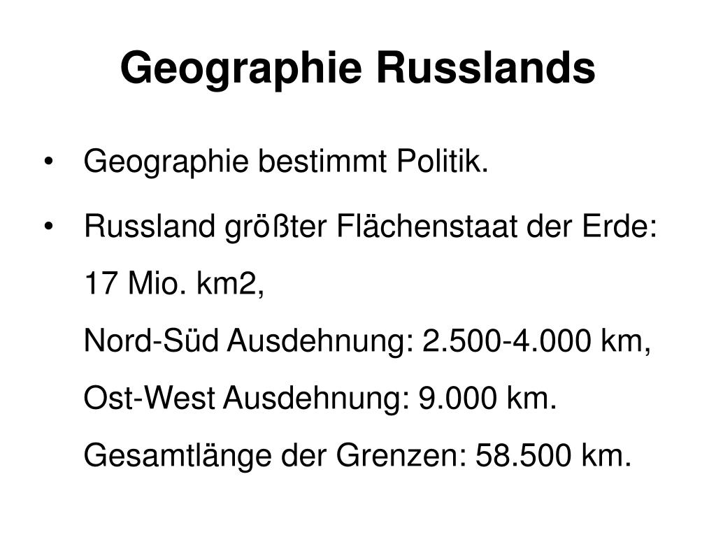 Geographie Russlands