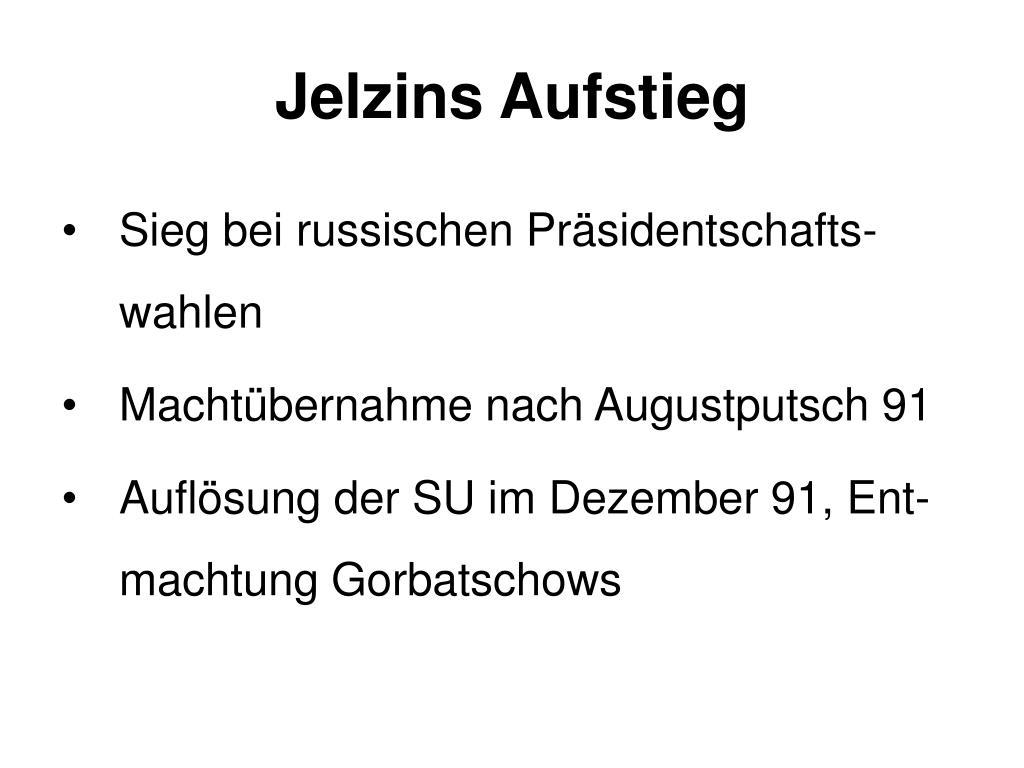 Jelzins Aufstieg