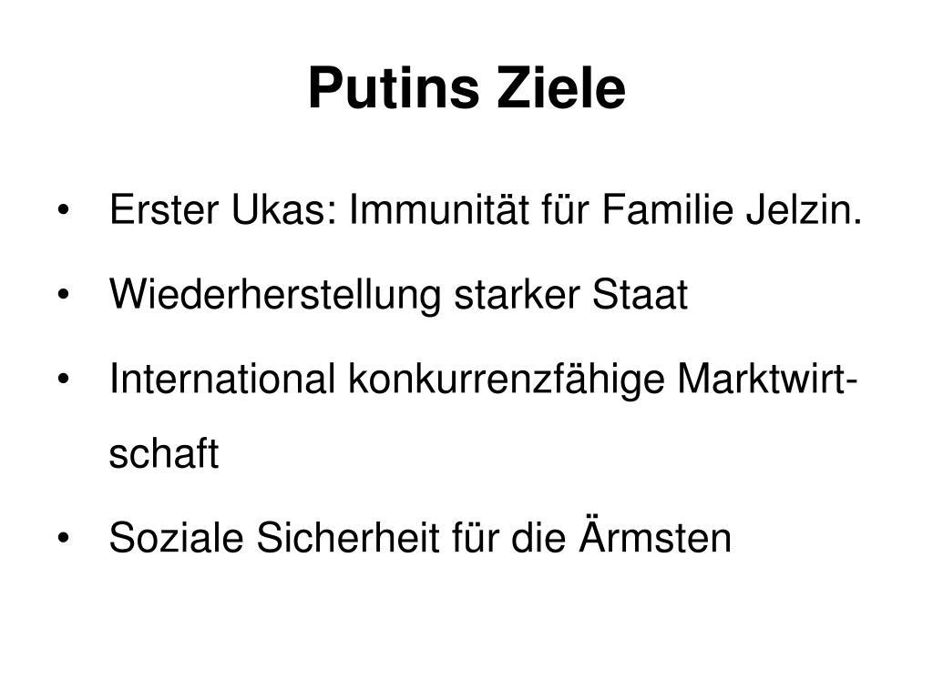 Putins Ziele