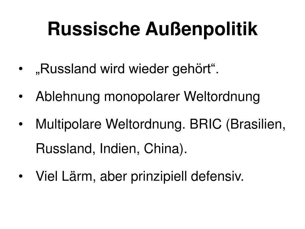 Russische Außenpolitik
