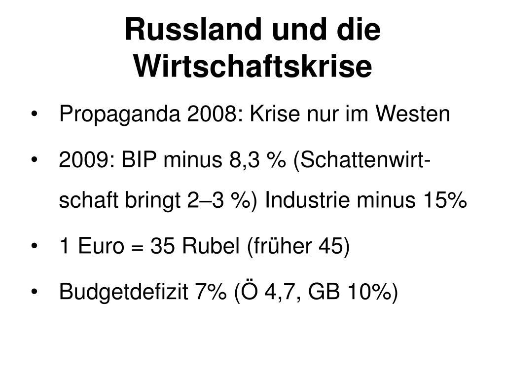 Russland und die Wirtschaftskrise