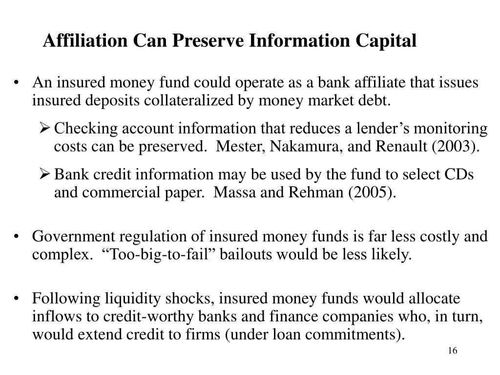 Affiliation Can Preserve Information Capital