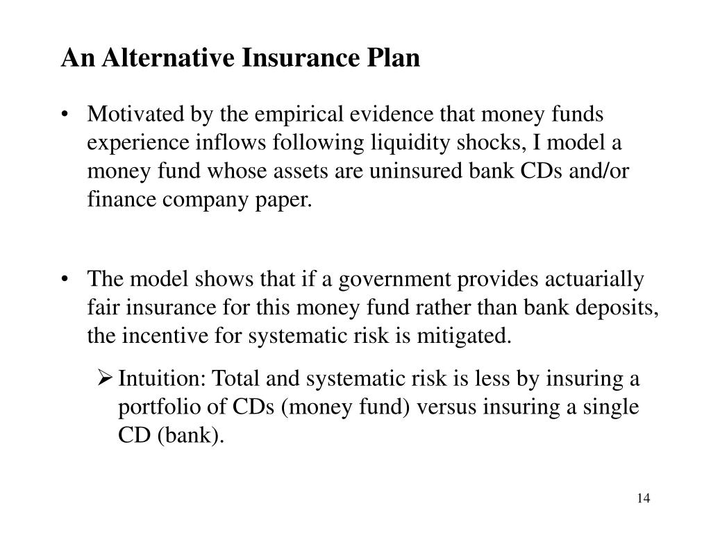 An Alternative Insurance Plan