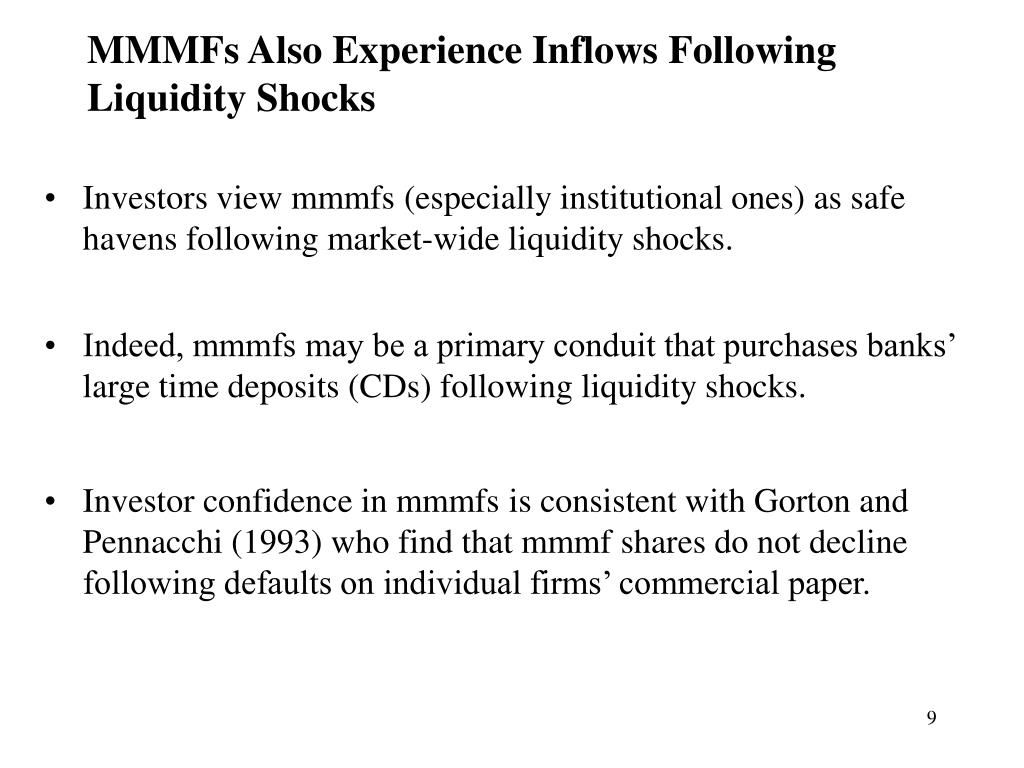 MMMFs Also Experience Inflows Following Liquidity Shocks