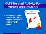 capt related activity for musical arts students
