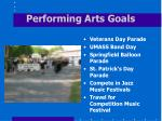 performing arts goals