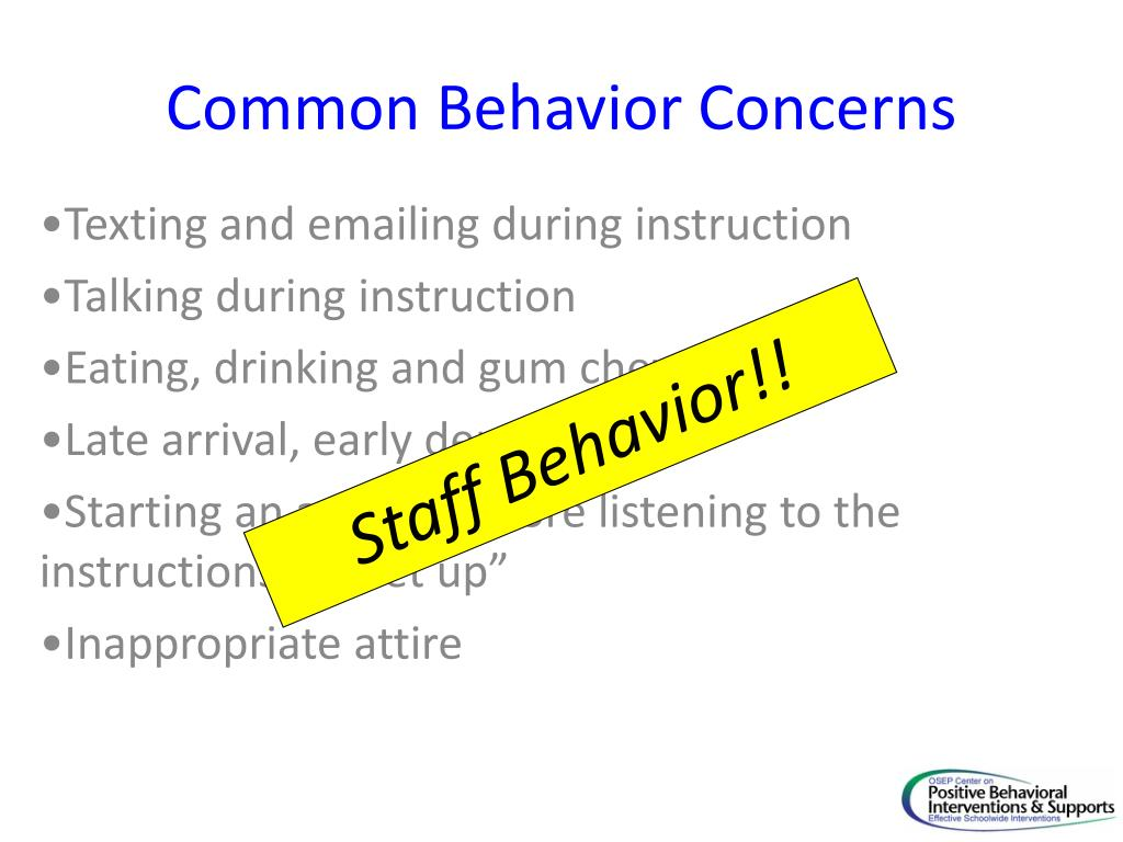 Common Behavior Concerns