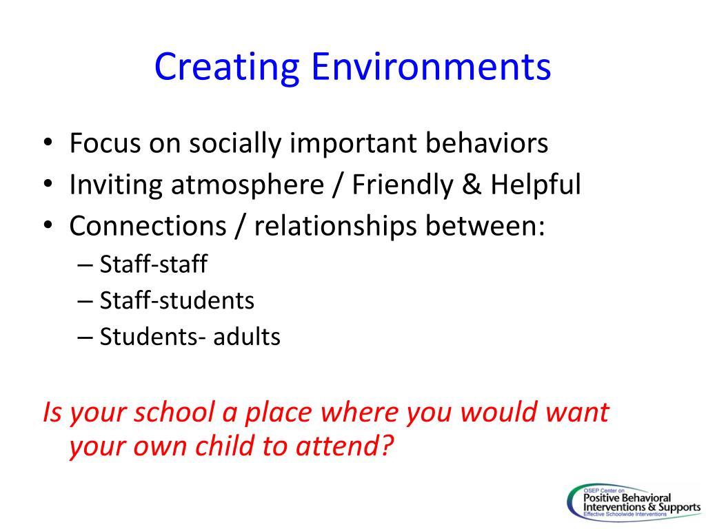 Creating Environments