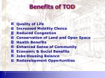 benefits of tod