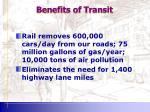 benefits of transit