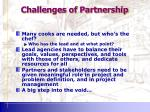 challenges of partnership