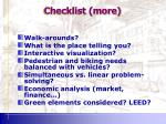 checklist more