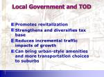 local government and tod