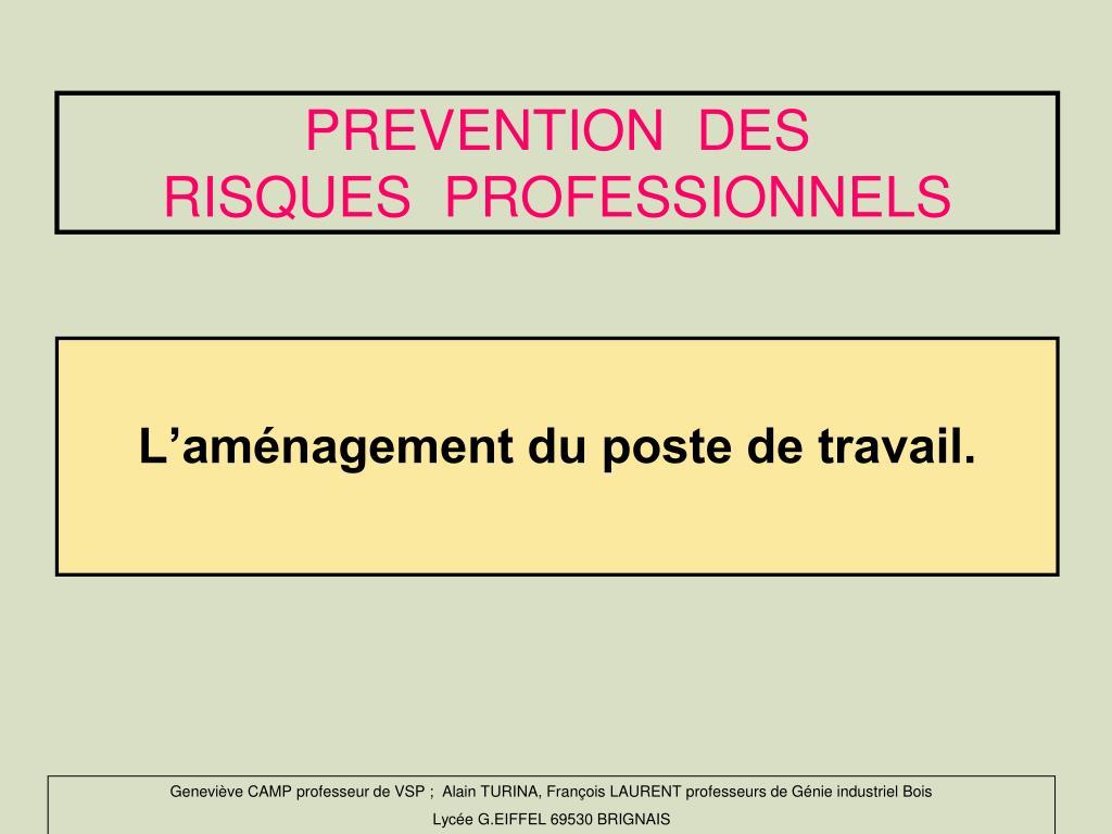 PREVENTION  DES