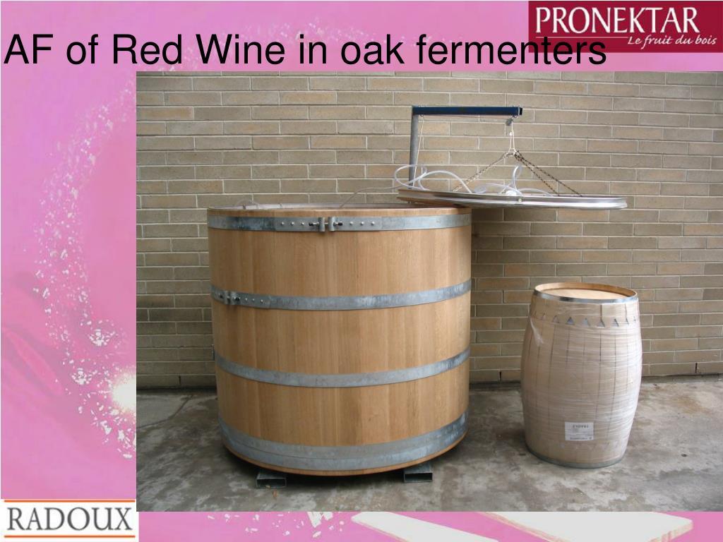 AF of Red Wine in oak fermenters