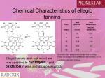 chemical characteristics of ellagic tannins