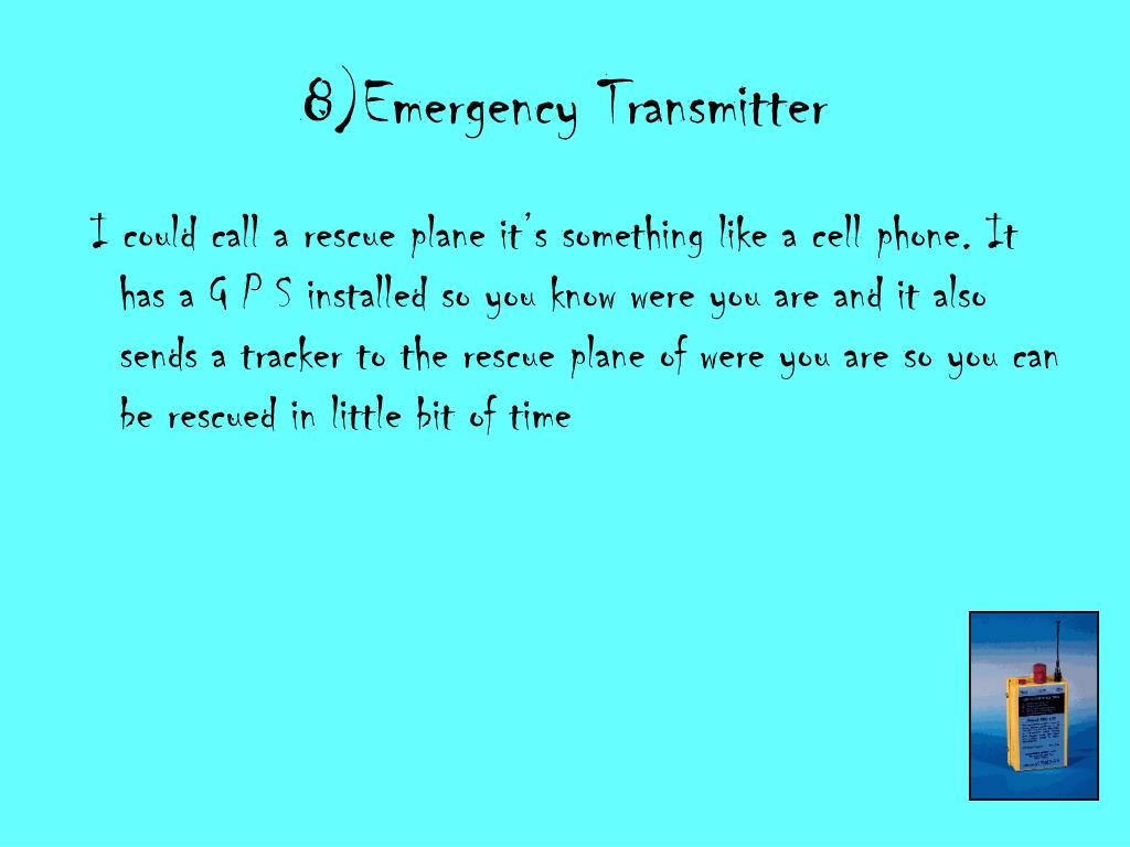 8)Emergency Transmitter