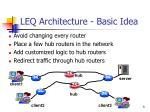leq architecture basic idea