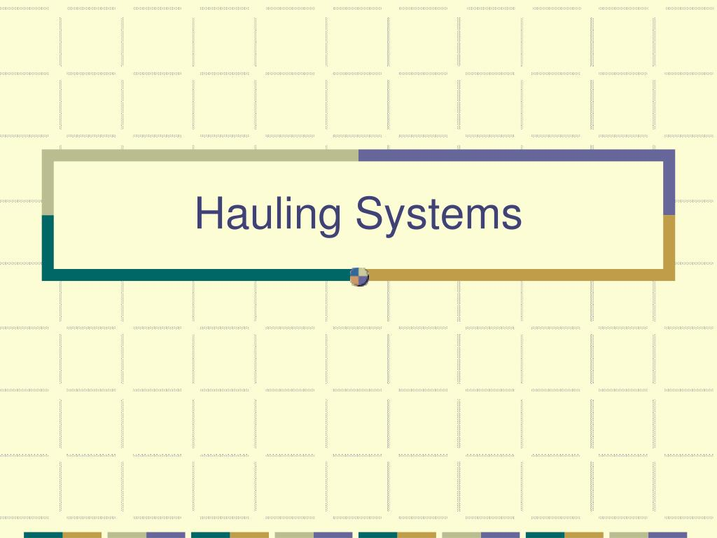 hauling systems l.