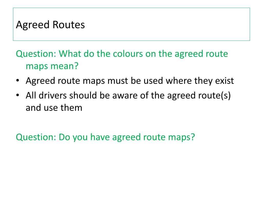 Agreed Routes