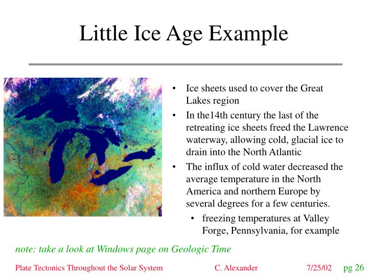 Little ice age example