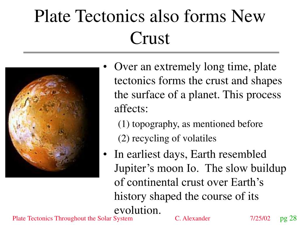 Plate Tectonics also forms New Crust