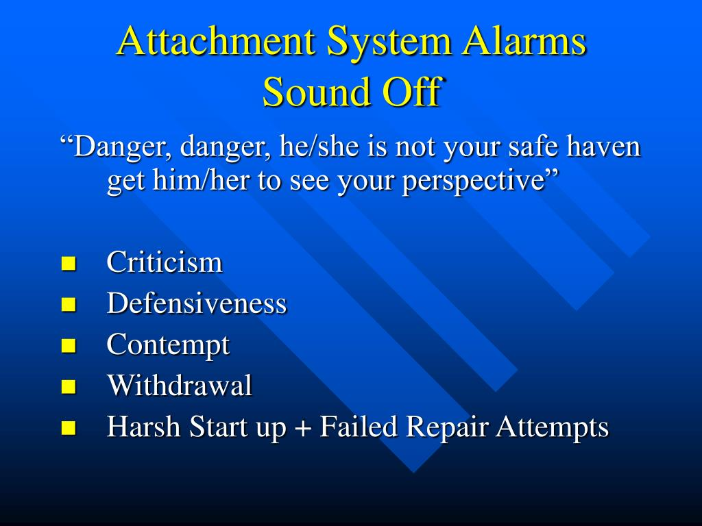 Attachment System Alarms Sound Off