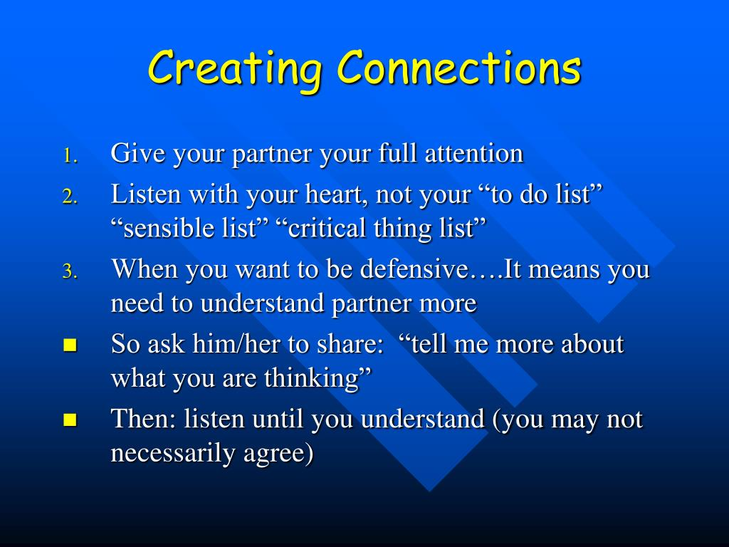 Creating Connections