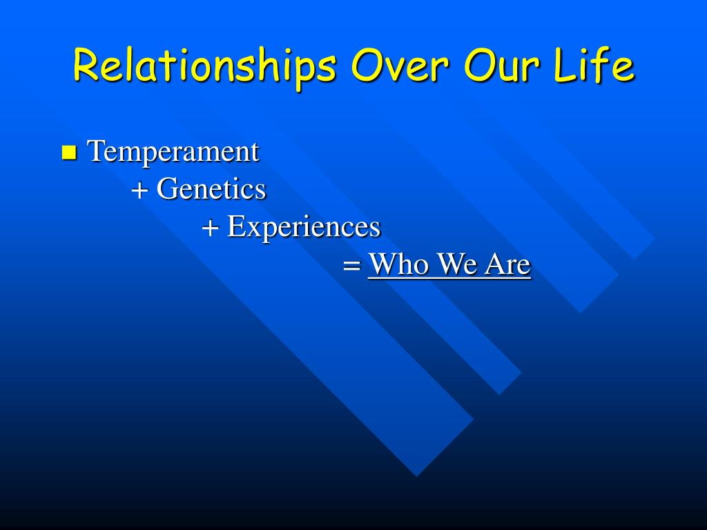 Relationships Over Our Life