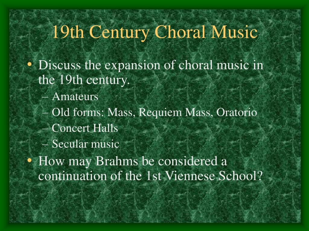 19th century choral music l.