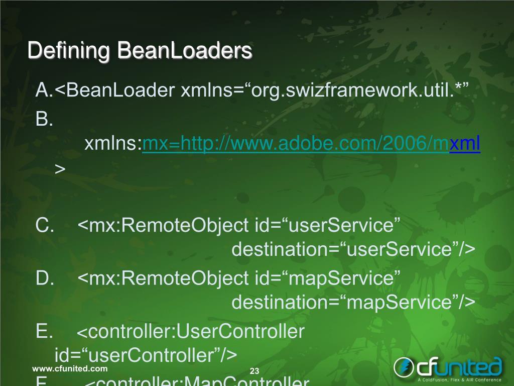 Defining BeanLoaders