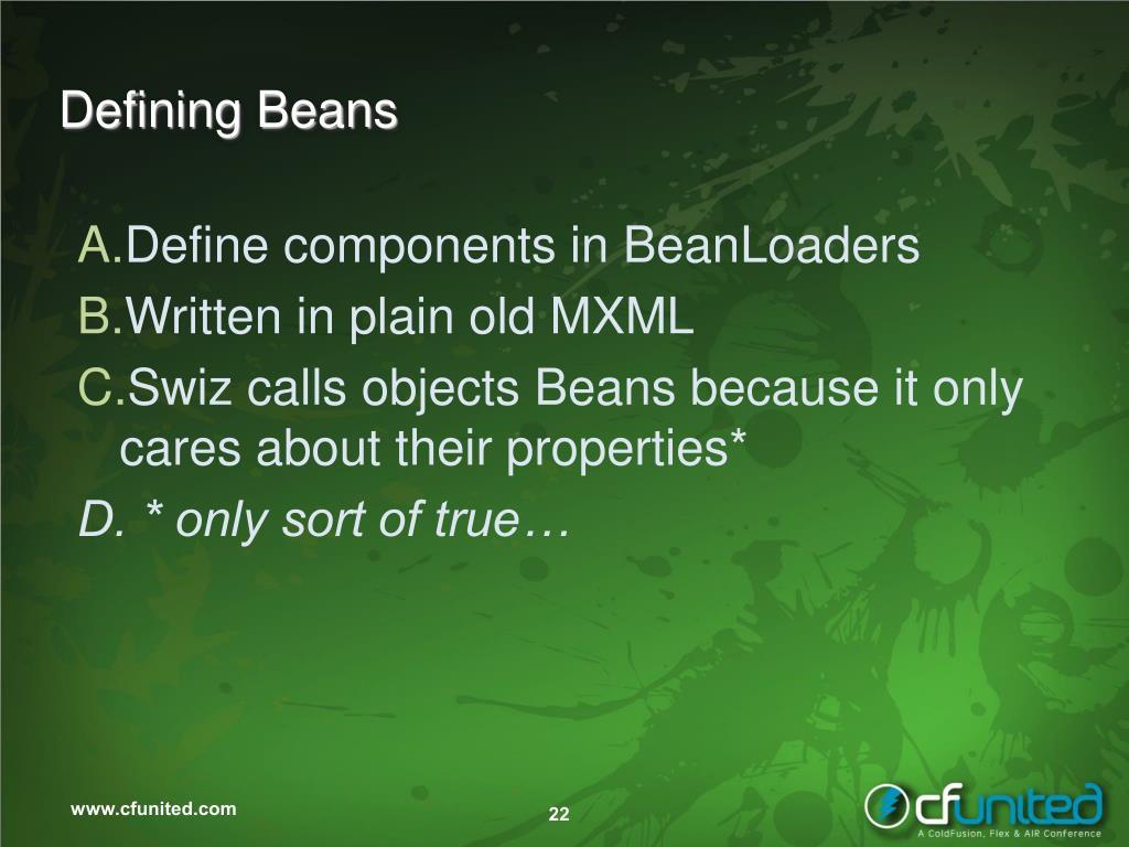 Defining Beans