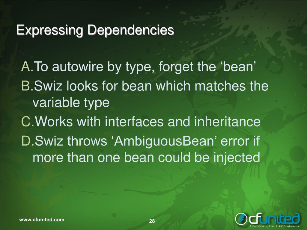 Expressing Dependencies